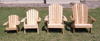 Wouldnt it be nice to relax -- feet up, a cool drink in one hand -- bathed in warm sunshine? Well, stop dreaming and start relaxing. Our top-selling Adirondack Chair features a comfortable sculpted seat, and curved back slats for maximum comfort! It is made entirely out of 5/4 Western Red Cedar. See our complete   lineup.