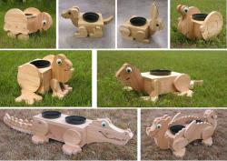 Cedar Flower Planter: Oh my Gosh!!!!  It is so darn cute 