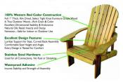 Click to enlarge image  - Standard Adirondack Chair -