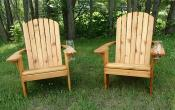Click to enlarge image Standard Adirondack Chairs with wine glass holders - Standard Adirondack Chair -