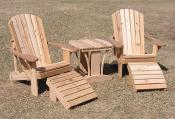 Click to enlarge image 2 Standard Chairs, 2 Footrests and 1 Fancy Side Table - Standard Adirondack Chair -