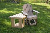 Click to enlarge image Angle Table, polywood Garden Chair Glider - Angle Table -