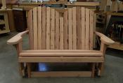 Click to enlarge image Split back Love Seat Glider - Redwood Collection - Our redwood collection is elegant, luxurious and simply beautiful.