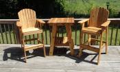 Click to enlarge image Deck Table and Deck Chairs - Custom-made tables -
