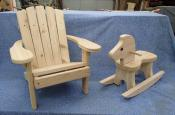 Click to enlarge image Kid's Adirondack chair, cedar toddler rocking horse. - Toddler rocking horse - Ride 'em cowboy, cowgirl