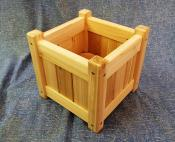 "Click to enlarge image 10"" square planter - Cedar planter boxes -"