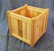 "Click to enlarge image 15"" square planter - Cedar planter boxes -"