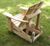 Click to enlarge image Side view - Adirondack Glider -