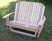 Click to enlarge image Love Seat Glider - Adirondack Glider -