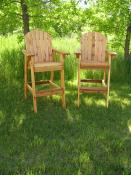 Click to enlarge image 2 Director`s Chairs stained with Cabot`s Australian Timber Oil-Natural - Director's Chair & Table -