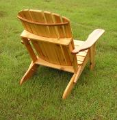 Click to enlarge image Back view of Big Boy version. - Folding Adirondack Chair -