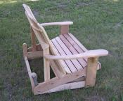 Click to enlarge image  - Adirondack Love Seat Glider -