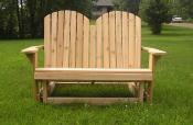 Click to enlarge image Split-back version - Adirondack Love Seat Glider -