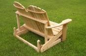 Click to enlarge image Side and back view of split-back version - Adirondack Love Seat Glider -
