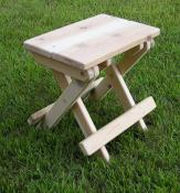 Click to enlarge image It`s handcrafted from one-inch cedar. - Folding Stool -