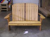New stain on personalized chair and love seat