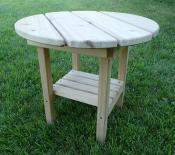 Click to enlarge image Round End Table with Shelf - Round End Table -