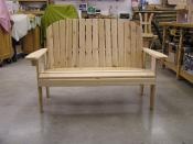 "Click to enlarge image It stands 36"" tall. - Garden Love Seat -"