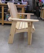 Click to enlarge image Side view: You sit up straight. - Garden Love Seat -