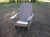 Click to enlarge image This chair is made from 100% plastic and stainless steel screws. - Polywood Adirondack Chair -